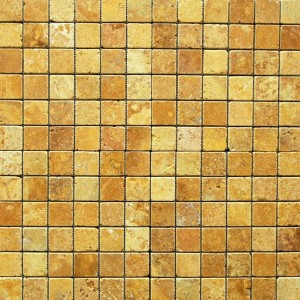2X2 Yellow tumbled Mosaic