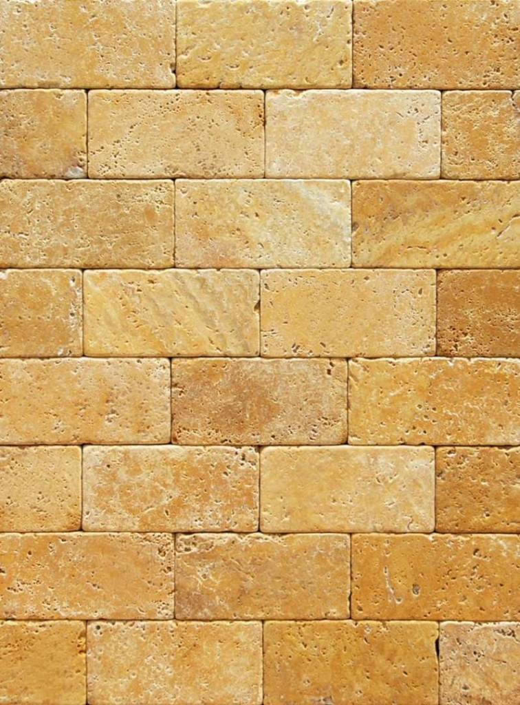 Tuscany Gold Travertine Split Face Marble X Corp