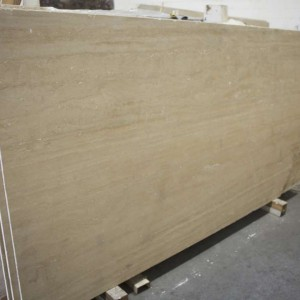 Classico Travertine Polished-Vein Cut Slab
