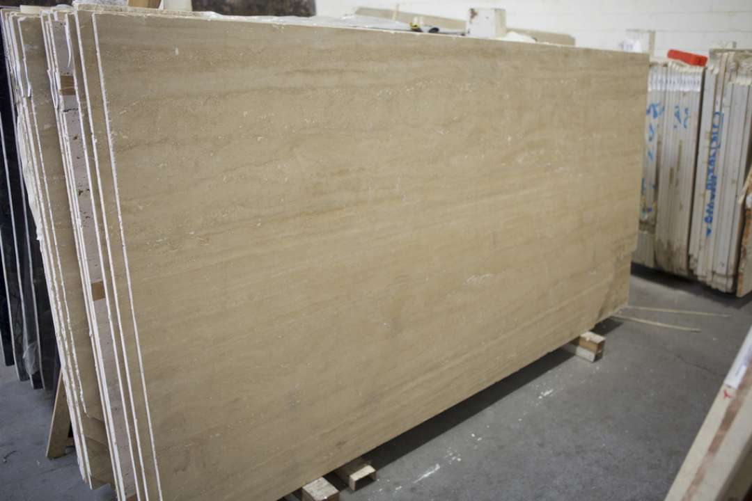 Travertine Stone Slabs : Classico travertine polished vein cut marble corp