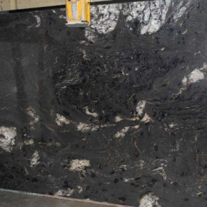 Cosmic Black Granite Polished Slab