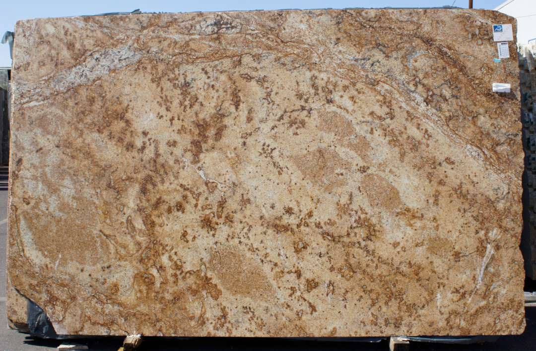Crystalline Stone Slabs : Golden crystal granite polished marble corp counter