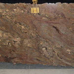 Juparana Crema Bordeaux Granite Polished Slab