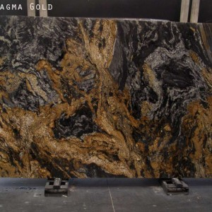 Magma Gold Granite Polished Black Slab