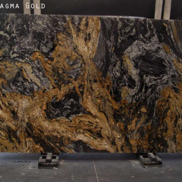 Black Granite Slabs : Magma gold granite polished marble corp counter top