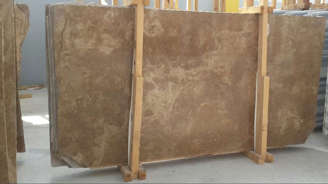 Travertine Stone Slabs : Noce travertine honed cross cut marble corp counter