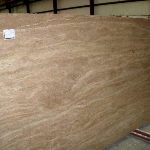 Noce Travertine Polished Veincut Slab