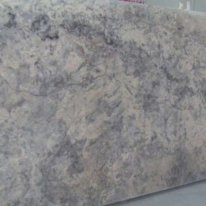Silver Travertine Honed CrossCut Slab