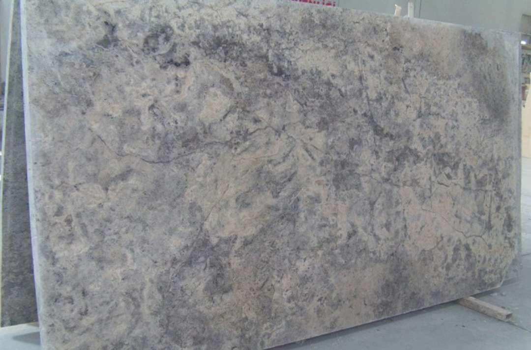 Travertine Stone Slabs : Silver travertine honed cross cut marble corp