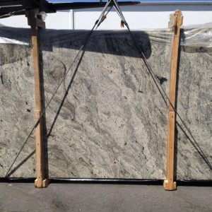 White Paradise Granite Polished Grey Slab