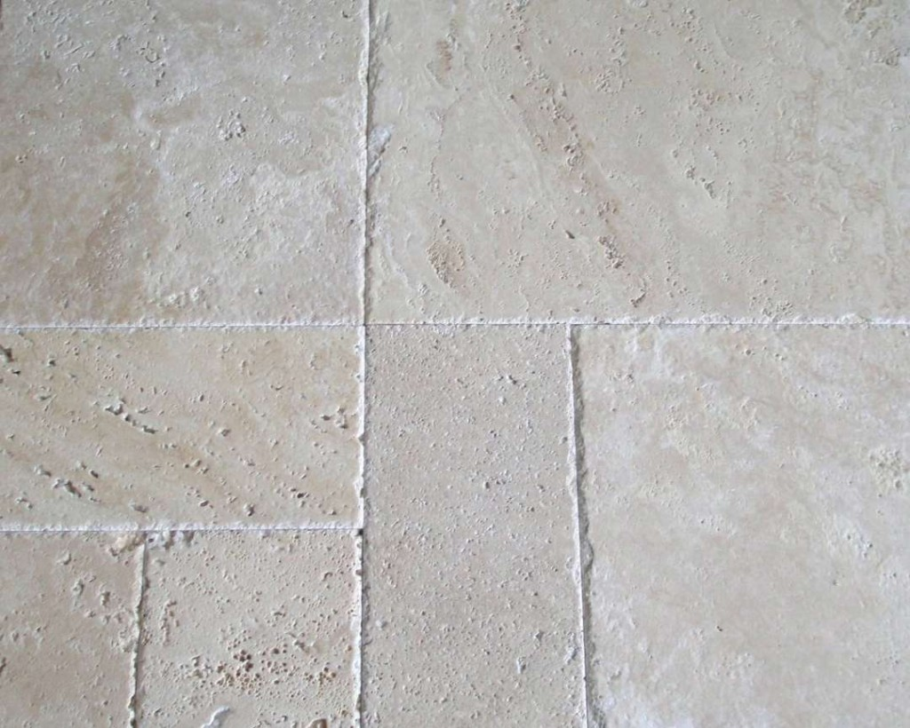 Ivory Travertine Chiseled Honed Marble X Corp Counter